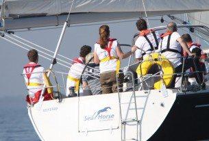 Actieve dag Jacht zeilen op het IJsselmeer