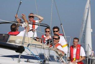 Jachtzeilen op het IJsselmeer