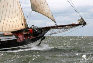 Klipperzeilen op het IJsselmeer