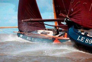 Wedstrijdzeilen met Lemsteraken op het IJsselmeer als teamuitje