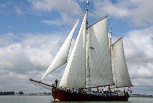 Weekendje klipper zeilen op het IJsselmeer met collega's