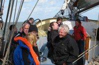 Gasten aan boord van klipper