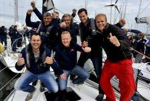 Start foto van een bedrijfsuitje op het IJsselmeer